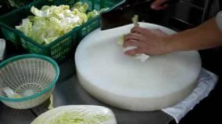 白菜のカットの仕方 今日の簡単中華料理教室  中華料理レシピ