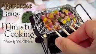 Miniature Cooking #86-ミニチュア料理-『BBQ バーベキュー Barbecue』 How to make Tiny food (Edible) Mini food