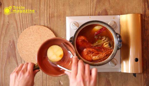 【男の料理】簡単レシピを動画で紹介!~チゲ鍋の素で作る簡単トムヤムクン風編~