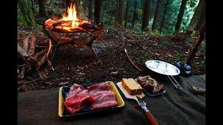 焚き火で作る料理 秋の終わりにソロキャンプ 後編 overnight rain camp