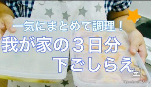 【料理動画】まとめて調理♪我が家の3日分下ごしらえ。