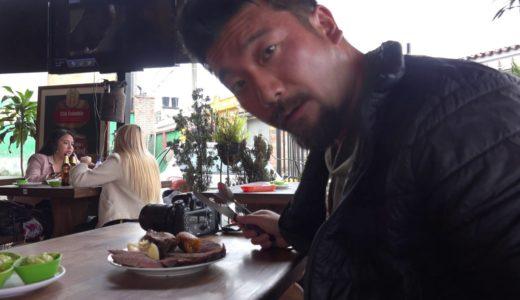 【南米】コロンビア・シパキラのレストランでコロンビア料理「肉料理」Eating lunch at the restaurant in Zipaquirá,Colombia