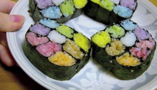 【虹色料理】9色巻き寿司作ってみた【令和最初動画】