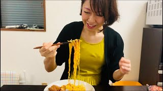 妻に料理を作ってみた 〜堤下食堂の豚キムチ冷やし中華〜