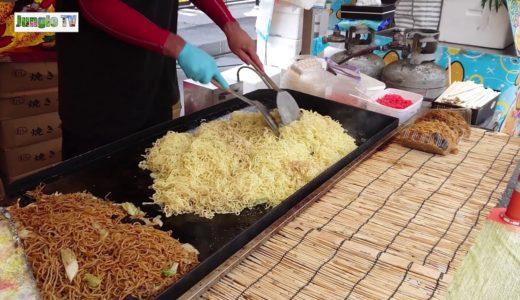 【屋台 料理】TVやSNSで話題!笹や家の焼きそば屋台in秩父瀬川祭り Japanese Food Stand movies