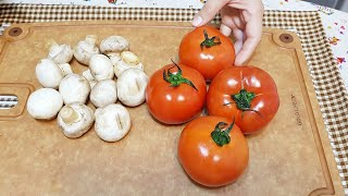 素食家常菜料理│番茄和蘑菇不要再煮義大利麵了,加些高麗菜,好吃到出鍋連湯汁一滴都不│EP124