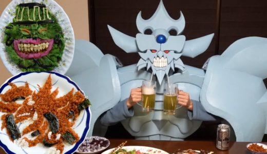 焼肉とキムチチャーハンを作るオベリスクの巨神兵