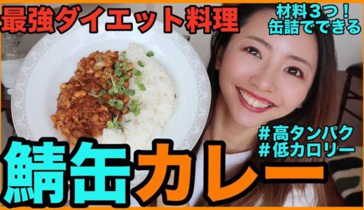【ダイエット料理】簡単ヘルシー!鯖缶で10分で作る最高の減量飯!【鯖缶カレー】高タンパク低脂質の痩せるご飯