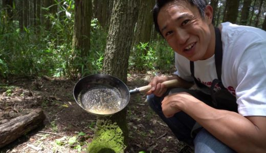 【焚火料理】香草バターを使えば格別のうまさになる!!ステーキ
