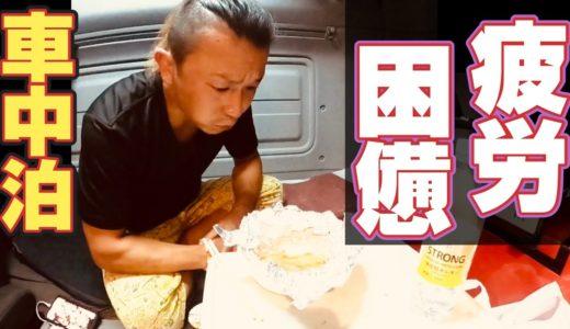 【長距離トラック運転手】車中泊で肉料理!夏バテ&熱中症!簡単レシピ!静岡県の富士川SAは最高!?