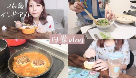 【日常】余り物で簡単料理 自炊 【食事vlog】
