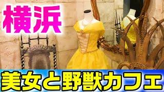 【食レポ番外編】ディズニー 美女と野獣カフェのコース料理 in 横浜中華街(遊園地にも行きます)