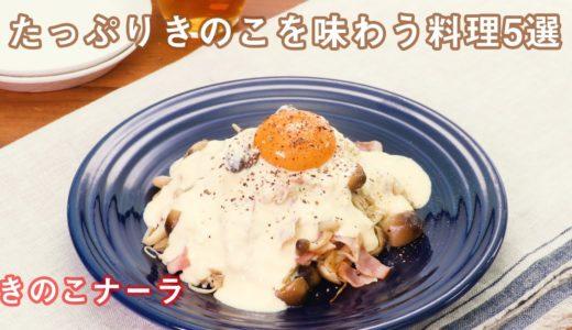 【秋の味覚】きのこをたっぷり味わう料理5選【最短10分】