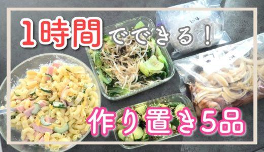 【適当】料理下手による料理下手のための週末1時間でできる作り置き5品【ズボラ】