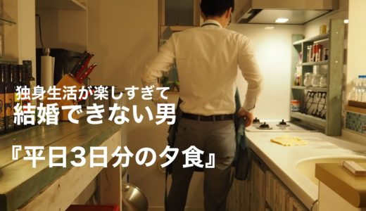 【一人暮らしの料理】仕事終わりに作る平日3日分の夕食/結婚できない男の日常