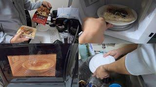 料理と食器洗いをする一人暮らし36歳独身中年フリーター(家事ルーティン)