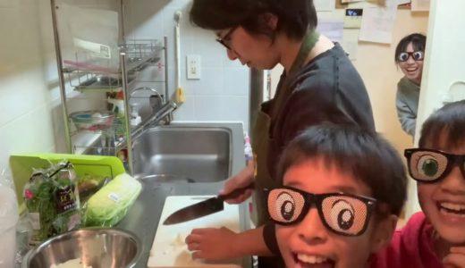 【お喋料理】ザ・高級!黒豚♪を岡本安代さんから頂きました〜。やっぱり全然違う!食べた後の子供達の眉毛の上がり方が半端ない!!動画のほとんどは、具沢山卵焼きの仕込みですが…すんません。