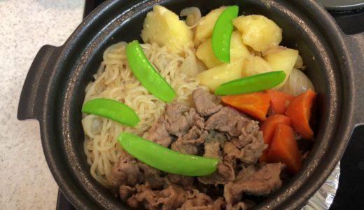 おでぶの料理😊簡単牛肉たっぷり肉じゃが&簡単ほうれん草とカニカマの胡麻和えを作る!生協の購入品
