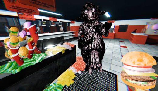 深夜のアルバイトの料理中に「食材だった牛」に襲われながら作業をする恐怖のハンバーガー屋。(絶叫あり)ホラーゲーム
