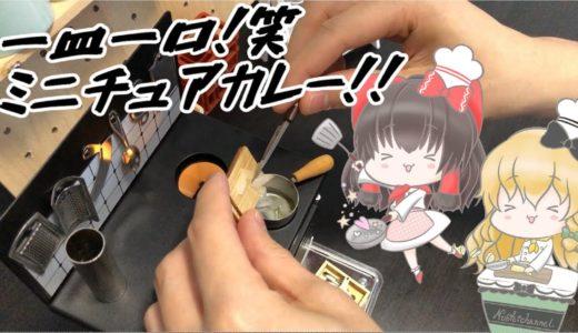 【ミニチュア料理】霊夢&魔理沙が手のひらサイズ、可愛いミニチュアカレーを作ります(*ノωノ)!【ゆっくり実況】