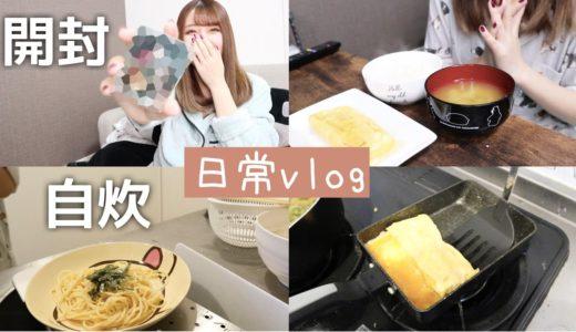【日常】開封 自炊 夜/昼ご飯【おうちvlog】明太子料理♡